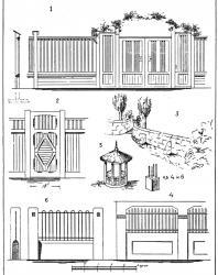 Иллюстрации из книги «Мотивы садовой архитектуры». Стори В.Г. 1911