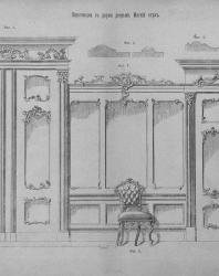 Альбом рисунков мебели в стиле «рококо». Макс Греф. 1898