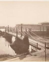 Подвесной мост. Фотоальбом с видами Новогергиевской корепости. 1884 г.