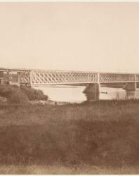 Железнодорожный мост. Фотоальбом с видами Новогергиевской корепости. 1884 г.