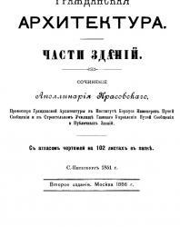Гражданская архитектура. Части зданий. Аполлинарий Красовский. 1851