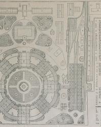 Иллюстрированное описание Всероссийской художественно-промышленной выставки в Москве. 1882 г. Общий план выставки