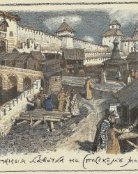 А.М. Васнецов. Книжные лавочки на Спасском мосту