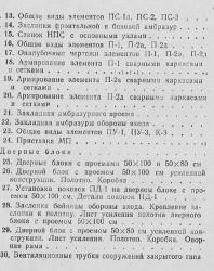 Альбом типовых сооружений для пулемётов. Часть II. Элементы и детали сооружений. 1977