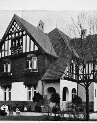 Каменная вилла в ново-немецком стиле. Иллюстрация из книги Стори В.Г. «Дачная архитектура за границей». 1913