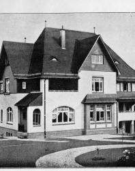 Каменный особняк на небольшое семейство. Иллюстрация из книги Стори В.Г. «Дачная архитектура за границей». 1913
