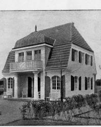 Небольшой каменный особняк с мезонином. Типичен для дома в имении. Иллюстрация из книги Стори В.Г. «Дачная архитектура за границей». 1913
