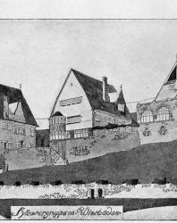 Примерное расположение нескольких особняков на одном земельном участке с общей оградой. Иллюстрация из книги Стори В.Г. «Дачная архитектура за границей». 1913