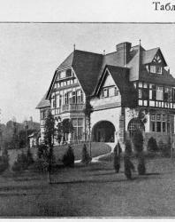 Каменная вилла в том же стиле на очень большую семью. Иллюстрация из книги Стори В.Г. «Дачная архитектура за границей». 1913