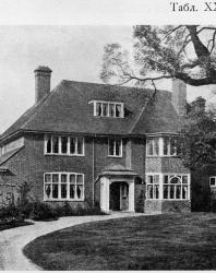 Каменный особняк в английском стиле. Иллюстрация из книги Стори В.Г. «Дачная архитектура за границей». 1913