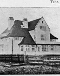 Каменная вилла в английском стиле. Иллюстрация из книги Стори В.Г. «Дачная архитектура за границей». 1913