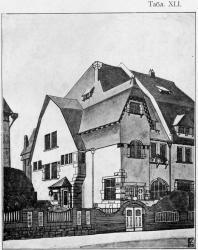 Каменный особняк — пригоден и для города. Иллюстрация из книги Стори В.Г. «Дачная архитектура за границей». 1913