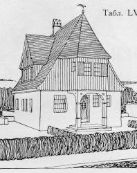 Небольшой охотничий домик. Иллюстрация из книги Стори В.Г. «Дачная архитектура за границей». 1913