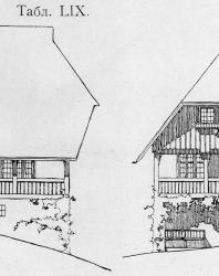Различные фасады одной и той же виллы в швейцарском стиле. Иллюстрация из книги Стори В.Г. «Дачная архитектура за границей». 1913