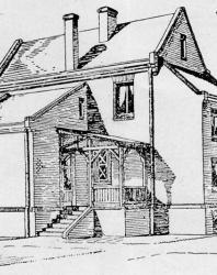Каменный особняк в новом немецком стиле. Иллюстрация из книги Стори В.Г. «Дачная архитектура за границей». 1913