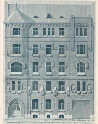Иллюстрация из книги Стори В.Г. «Фасады городских домов». 1912 г.