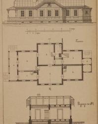 Иллюстрации из книги «Деревянные дома-дачи». Папенгут А.Ф. 1904