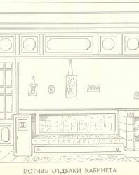 Иллюстрация из книги «Мотивы отделки комнат». Стори В.Г. 1915