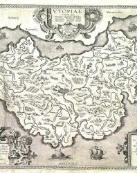 Карта Утопии работы Ортелия (Abraham Ortelius (1527–1598)