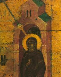 Благовещение. Деталь (в натуральную величину). Праздничный ряд. Софийский собор в Новгороде