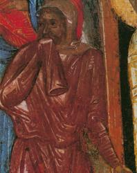 Воскрешение Лазаря. Деталь. Праздничный ряд. Софийский собор в Новгороде