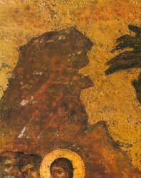 Вход в Иерусалим. Деталь. Праздничный ряд. Софийский собор в Новгороде