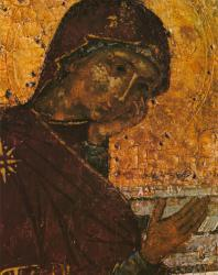 Распятие. Деталь. Праздничный ряд. Софийский собор в Новгороде