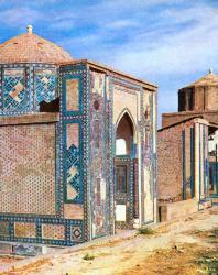Шахи-Зинда. Группа мавзолеев. Вид с юго-востока