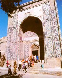 Шахи-Зинда. Вход в комплекс Кусама ибн Аббаса