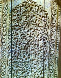 Шахи-Зинда. Резьба по дереву, фрагмент двери