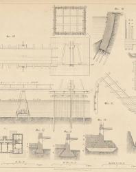 Основания и фундаменты. Чертежи. Карлович В.М. 1869. Лист 3