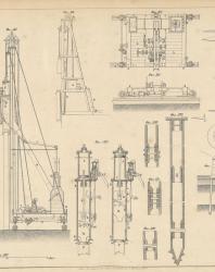 Основания и фундаменты. Чертежи. Карлович В.М. 1869. Лист 22