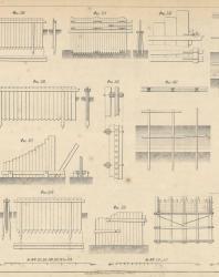 Основания и фундаменты. Чертежи. Карлович В.М. 1869. Лист 24