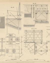 Основания и фундаменты. Чертежи. Карлович В.М. 1869. Лист 25
