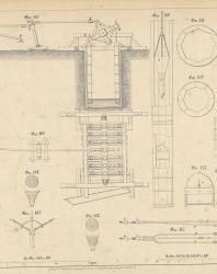 Основания и фундаменты. Чертежи. Карлович В.М. 1869. Лист 33
