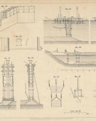 Основания и фундаменты. Чертежи. Карлович В.М. 1869. Лист 38