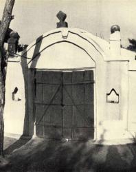 Погреб с округлым фронтоном. Лазо. Иллюстрация из книги «Каменный цветок Молдавии». Гоберман Д.Н. 1970