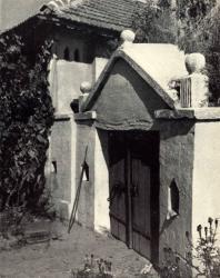 Погреб, примыкающий к жилому дому. Лазо. Иллюстрация из книги «Каменный цветок Молдавии». Гоберман Д.Н. 1970