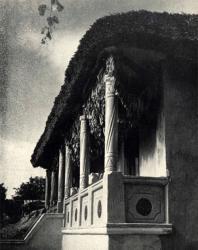 Сушка табака под навесом галереи. Жаврены. Иллюстрация из книги «Каменный цветок Молдавии». Гоберман Д.Н. 1970