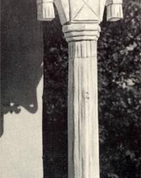 Часть угловой колонки. Жаврены. Иллюстрация из книги «Каменный цветок Молдавии». Гоберман Д.Н. 1970