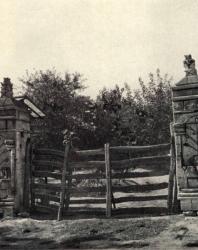 Ворота. Общий вид и деталь. Иллюстрация из книги «Каменный цветок Молдавии». Гоберман Д.Н. 1970