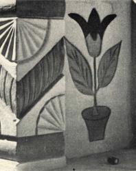 Декоративная обработка столбика и внутренней плоскости парапета. Желобок. Иллюстрация из книги «Каменный цветок Молдавии». Гоберман Д.Н. 1970