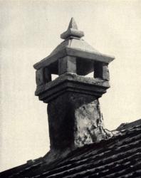 Дымовая труба. Желобок. Иллюстрация из книги «Каменный цветок Молдавии». Гоберман Д.Н. 1970