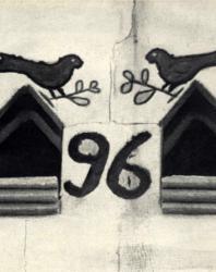 Декоративная обработка верхней части стены жилого дома. Слободка. Иллюстрация из книги «Каменный цветок Молдавии». Гоберман Д.Н. 1970