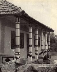 Новый дом. Слободка. Иллюстрация из книги «Каменный цветок Молдавии». Гоберман Д.Н. 1970