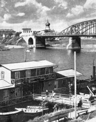 Псков. Река Великая. Мост Советской Армии