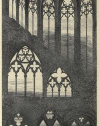 The Seven Lamps of Architecture. John Ruskin. 1889: III. Traceries from Caen, Bayeux, Rouen, and Beauvais