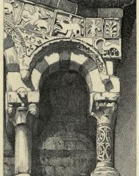 The Seven Lamps of Architecture. John Ruskin. 1889: VI. Arch from the Façade of the Church of San Michele at Lucca