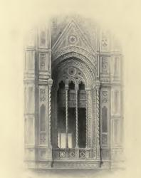 The Seven Lamps of Architecture. John Ruskin. 1889: IX. Tracery from the Campanile of Giotto, at Florence. Title page