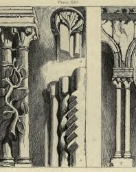 The Seven Lamps of Architecture. John Ruskin. 1889: XIII. Portions of an Arcade on the South Side of the Cathedral of Ferrara